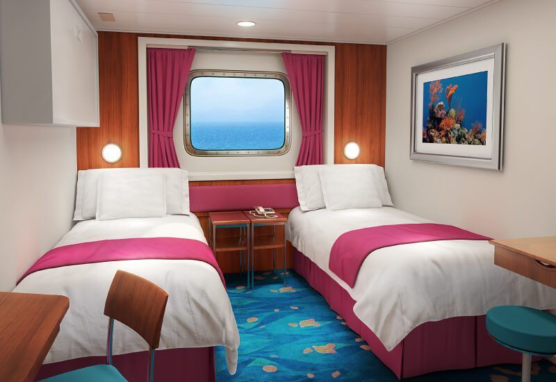 Cabine Extérieure du bateau de croisière Norwegian Pearl