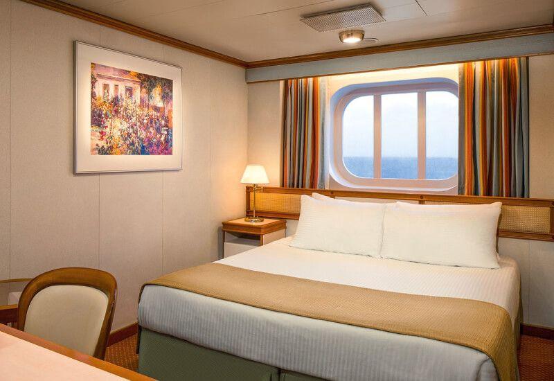 Cabine Extérieure du bateau de croisière Coral Princess