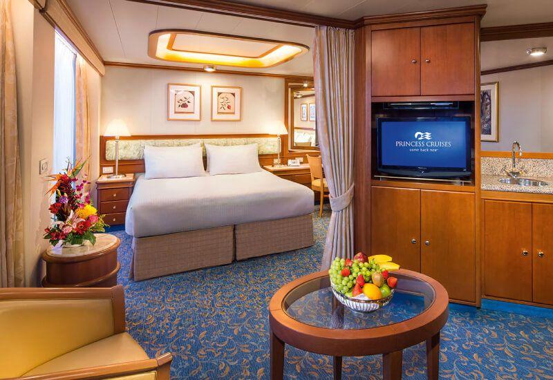 Suite du bateau de croisière Coral Princess