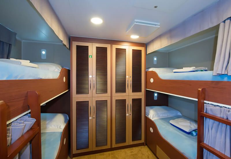 Photo du dortoir de l'Aranui 5