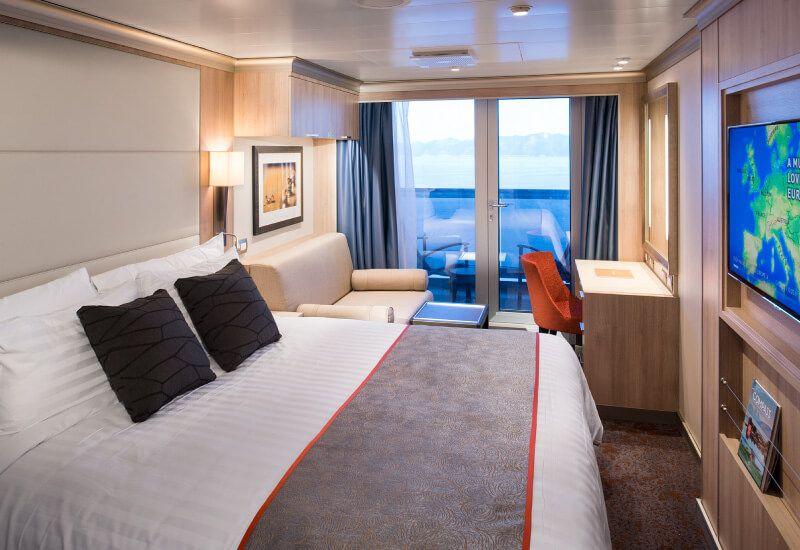 Cabine balcon du bateau de croisière MS Koningsdam