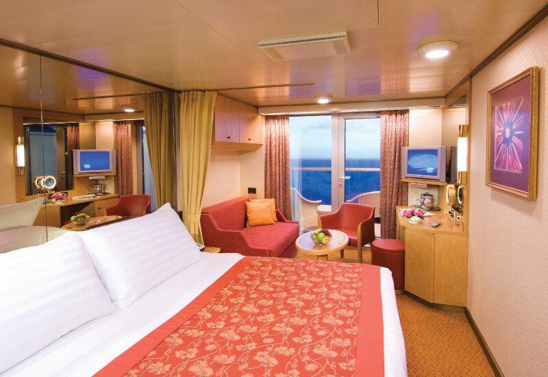 Cabine balcon du bateau de croisière MS Noordam