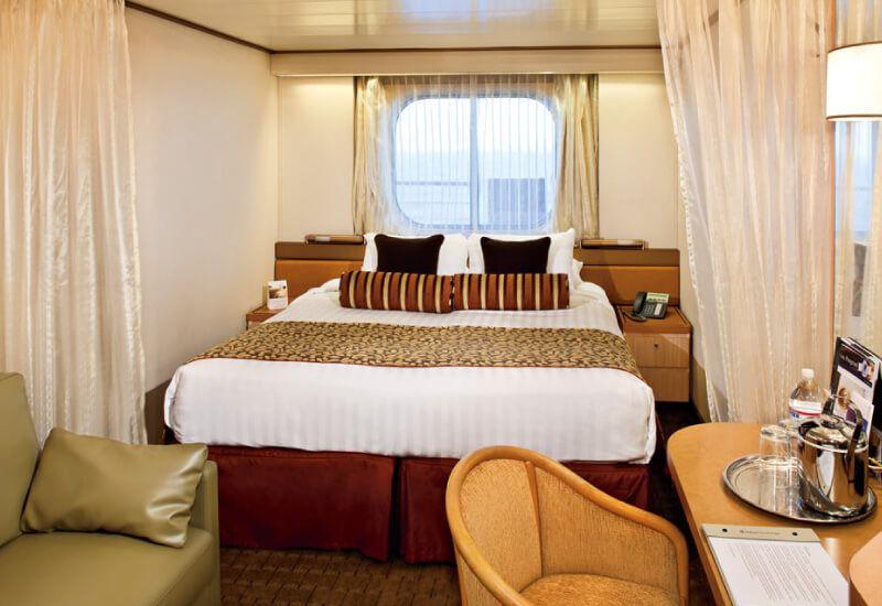 Cabine extérieure du bateau de croisière MS Rotterdam