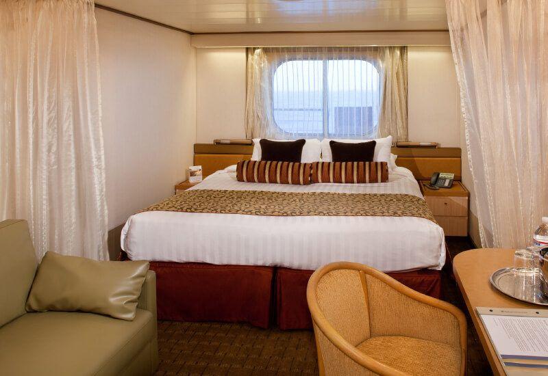 Cabine Extérieure du bateau de croisière Ms Zaandam