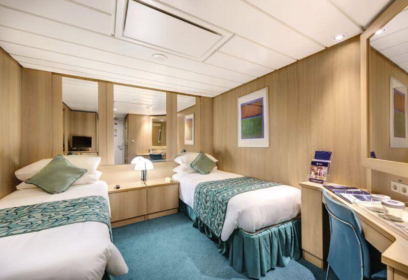 Cabine intérieure du bateau de croisière MSC Sinfonia