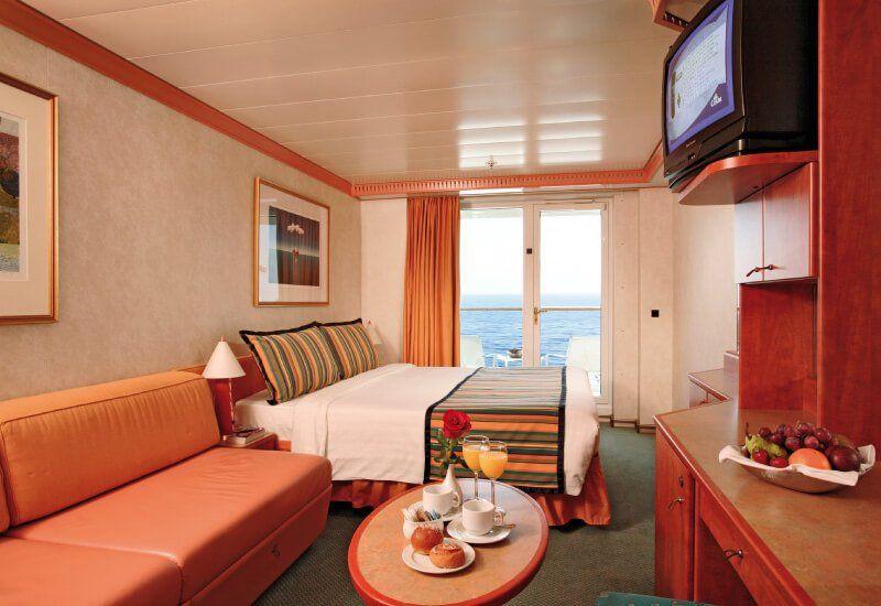 Cabine balcon du bateau de croisière Costa Luminosa
