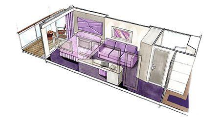 Cabine balcon du MSC Seaview