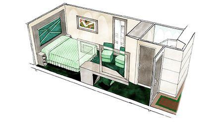 Cabine intérieure du MSC Seaview