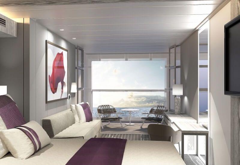 Cabine balcon du bateau de croisière Celebrity Edge
