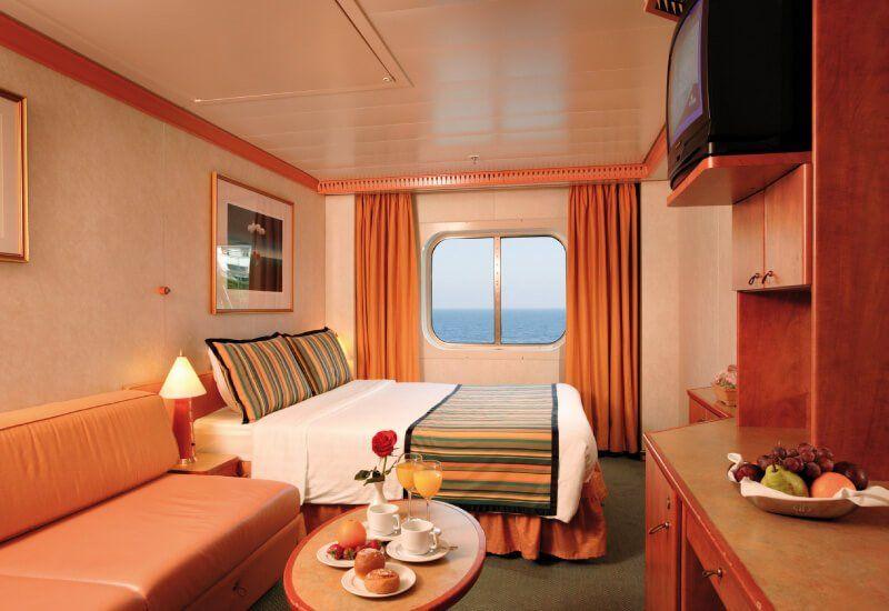 Cabine extérieure du bateau de croisière Costa Serena