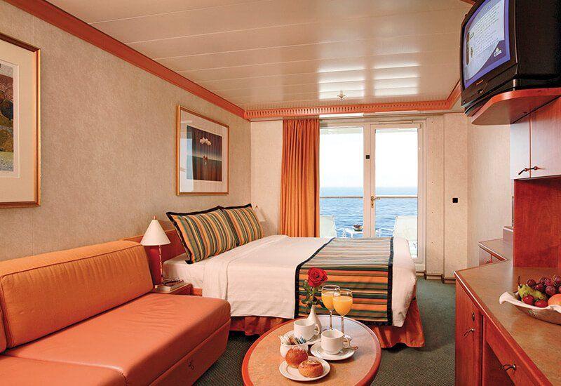 Cabine balcon du bateau de croisière Costa Mediterranea