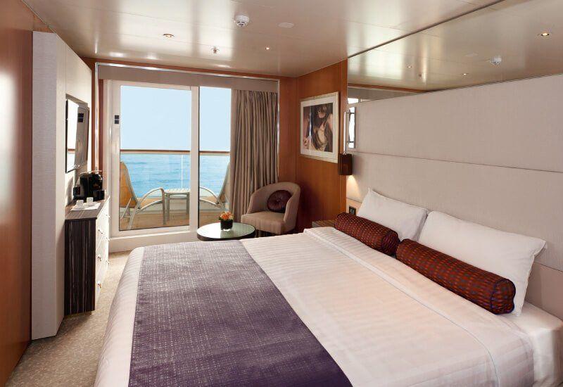 Cabine balcon du bateau de croisière Costa NeoRomantica