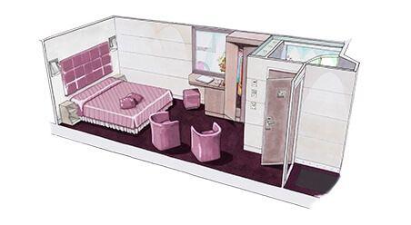 Cabine intérieure du MSC Grandiosa