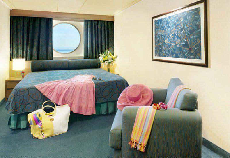 Cabine extérieure du bateau de croisière MSC Fantasia