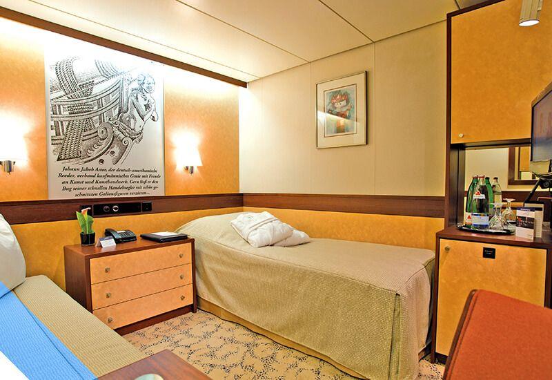 Cabine intérieure du bateau de croisière Jules Verne de CMV