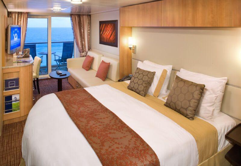 Cabine balcon du bateau de croisière Celebrity Equinox