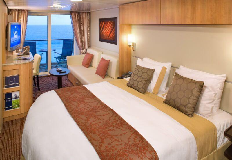 Cabine balcon du bateau de croisière Celebrity Reflection