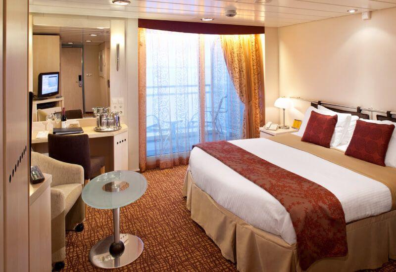 Cabine balcon du bateau de croisière Celebrity Millenium
