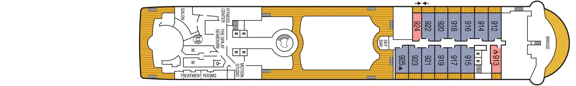 Seabourn Odyssey Pont 9